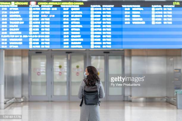 a women awaits the arrival of her friend travelling during the pandemic - travel ban stock pictures, royalty-free photos & images