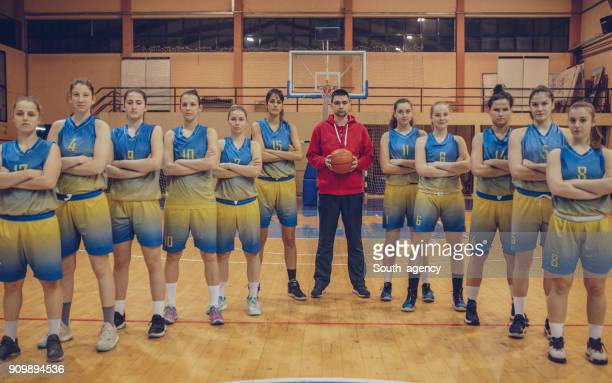 women basketball team - basketball team stock pictures, royalty-free photos & images