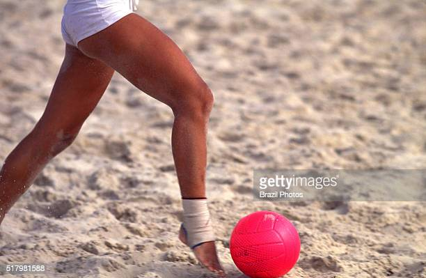 Women beach soccer the game emphasises skill and agility the irregularity of the softsand playing surface leads to a totally different style of play...