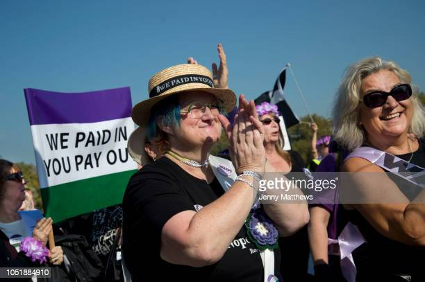 Women born in the 1950s held a Day of Action to draw attention to the women affected by the rise of the state pension age from 60 to 66 organised by...