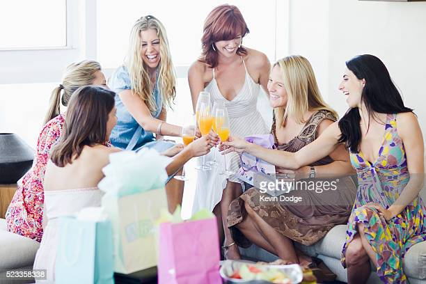 Women Celebrating at Baby Shower
