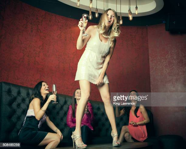 Women celebrating in nightclub