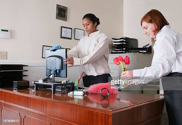 Women Cleaning an Office