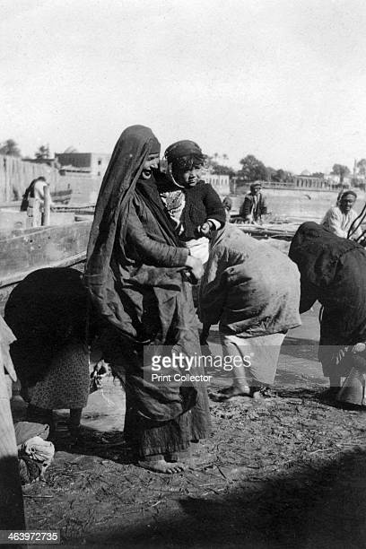 Women collecting water at on the Tigris River Baghdad Iraq 19171919