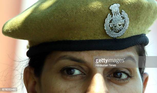 Women constables from city's first lady police patrol unit being flagged off from Police Commissionerate on May 1 2017 in Jaipur India The unit...