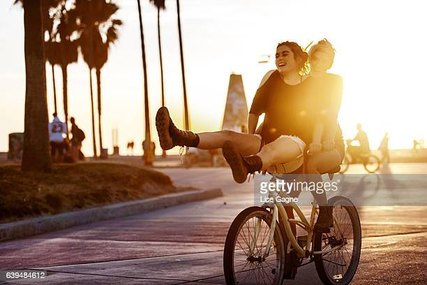 Women Couple Biking