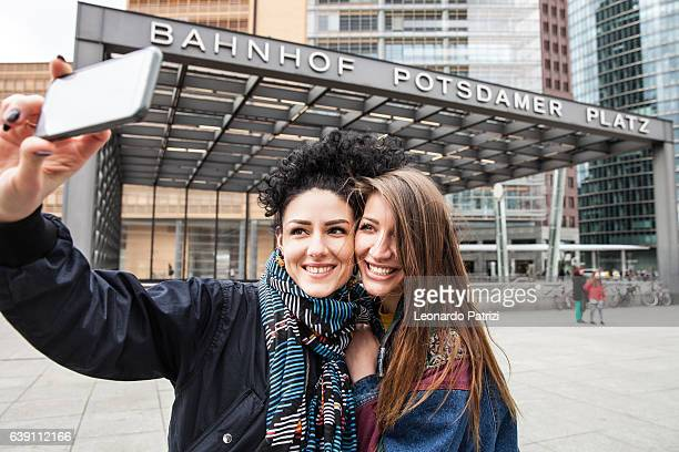 Women couple on holiday in Berlin