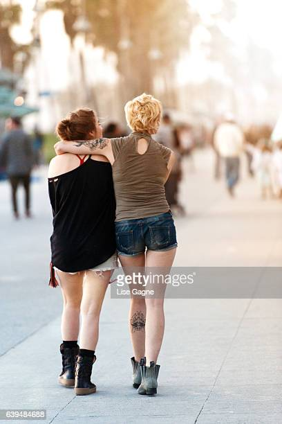 Women Couple Walking