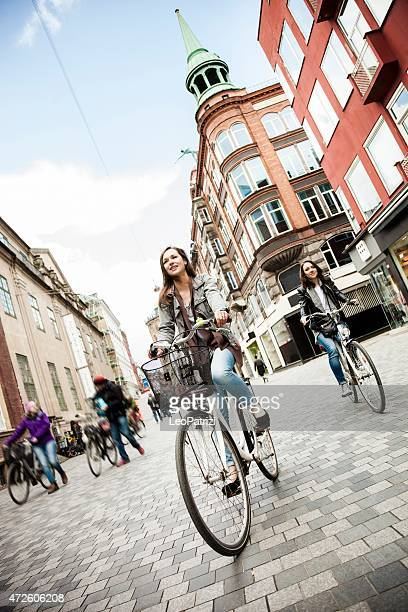 Women cycling in Copenhagen