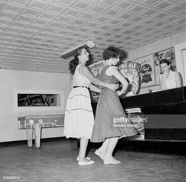 Women dancing at the Brown Derby Road House Alma Georgia United States 1954