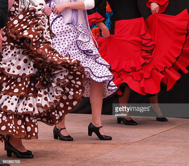 women dancing flamenco - flamenco dancing stock photos and pictures