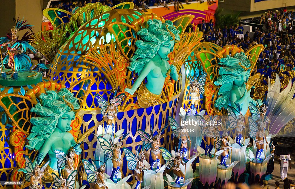 Women Dancing in Sambadromo, Rio de Janeiro, Brazil : Stock Photo