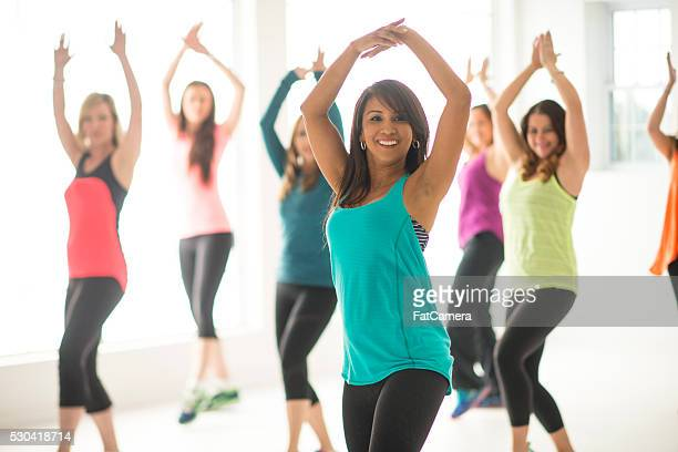 Women Dancing Together During a Workout