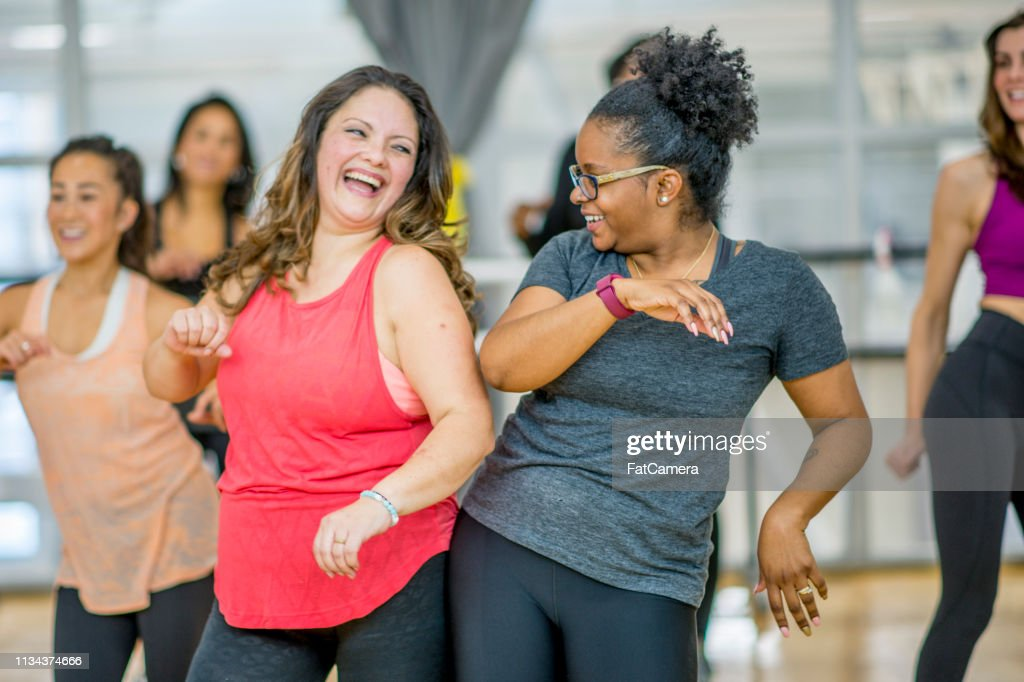Women Dancing Together : Stock Photo