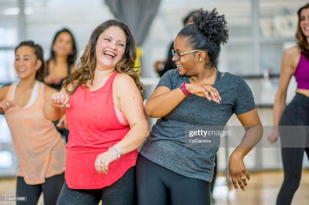 Women Dancing Together : Foto de stock