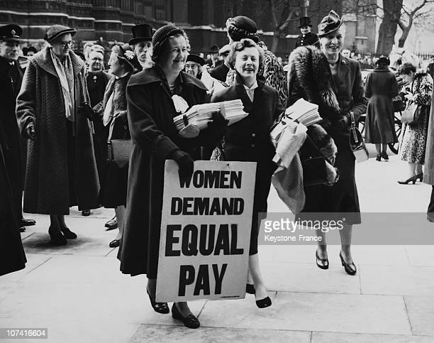 Women Demand Equal Pay In Great Britain
