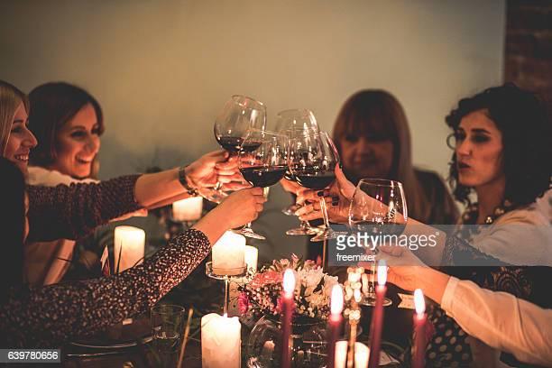 Women dinner party