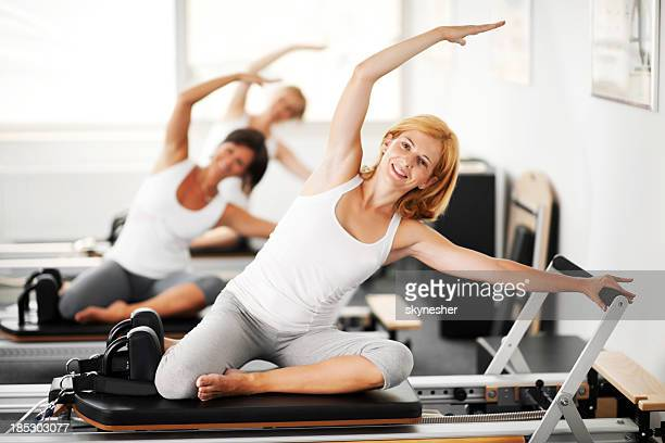 Women doing Pilates exercises