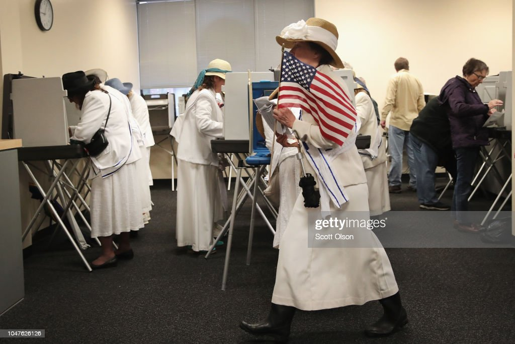 Early Voting Begins In Iowa Ahead Of Midterm Elections : News Photo