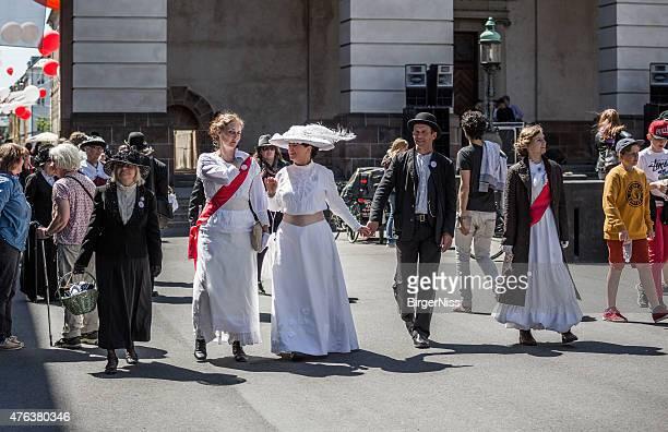 Frauen als suffragettes, Kopenhagen, Dänemark