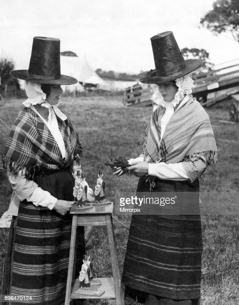 Women dressed in traditional clothing at the Eisteddfod at Mold, Flintshire, 7th August 1923.