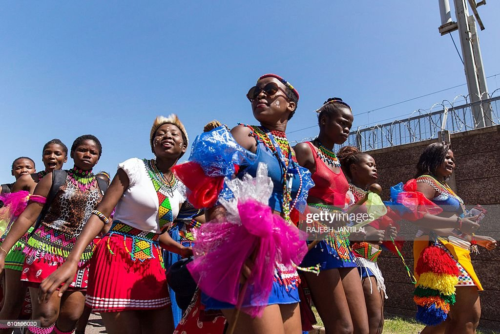 Women Dressed In Zulu Traditional Attire Take To The