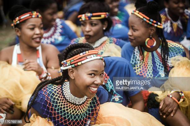 Women dressed in Zulu traditional regalia joins thousands of people to commemorate King Shaka's Day Celebration near the grave of the great Zulu King...