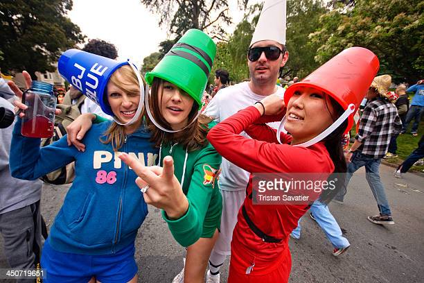 CONTENT] Women dressedup in color Crayola costumes at the annual Bay to Breaker footrace and street party The name reflects the fact that the race...