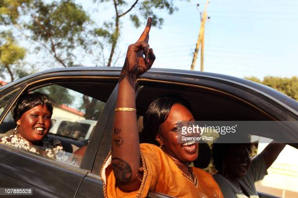 Women drive in a pro independence parade January 5 2011 in Juba Sudan Southern Sudan is preparing for an independence referendum to take place this...
