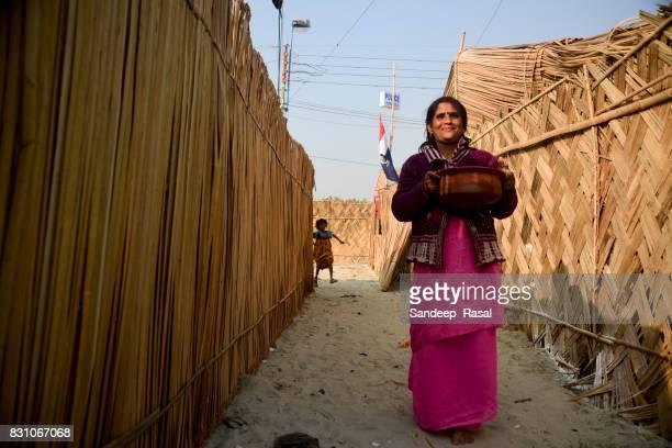 a women during ganga sagar fair - ganga sagar stock photos and pictures