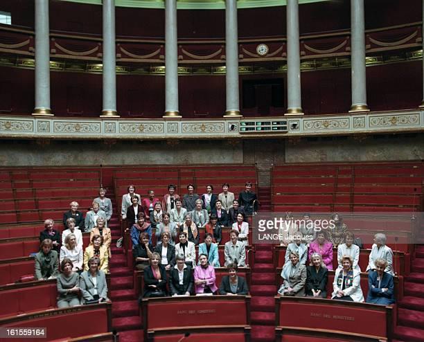 57 Women Elected At The National Assembly Les 57 femmes députées de l'Assemblée Nationale photo de groupe Nicole FEIDT Brigitte DOUAY Michèle RIVASI...