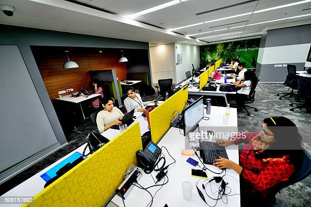 Women employees working in a office of Microsoft on May 7 2014 in Gurgaon India
