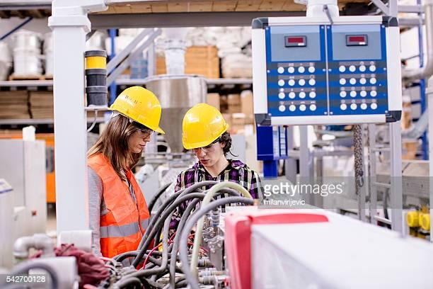 Women engineers in the factory