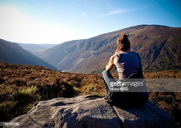Women enjoying Wicklow mountains view