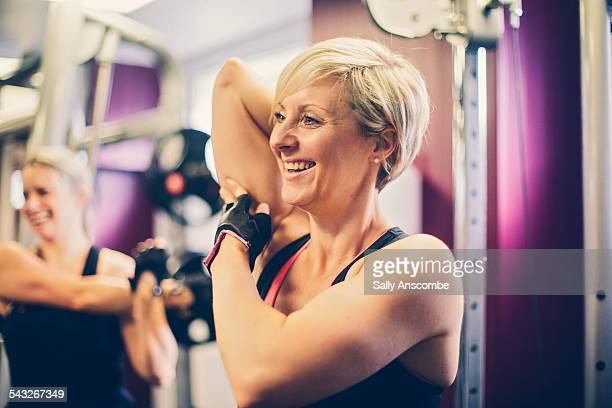 Women exercising at the gym
