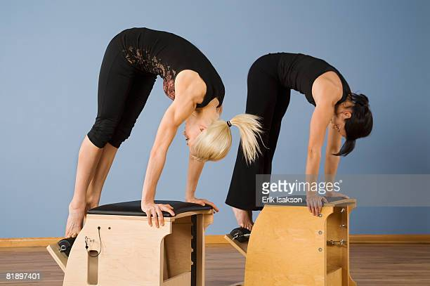 Women exercising in pilates class