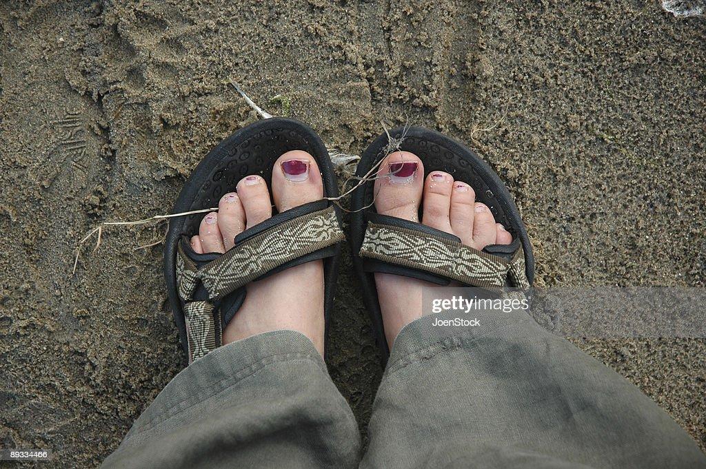 女性の足 : ストックフォト