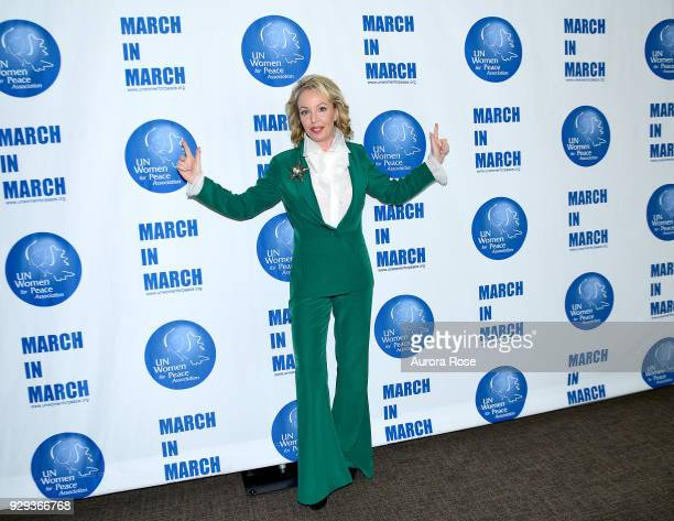 Women for Peace Association's Ambassador for Peace HRH The Princess Camilla of Bourbon Two Sicilies Duchess of Castro Poses at the UNWFPA Annual...