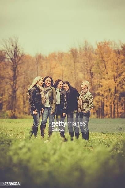 Women Friends Having Fun Outdoors