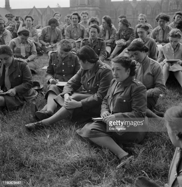 Women from outside the UK enlist in the Auxiliary Territorial Service during World War II, England, July 1941.