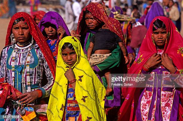 Women from the Gharasia tribe during one of the largest Adivasi fairs