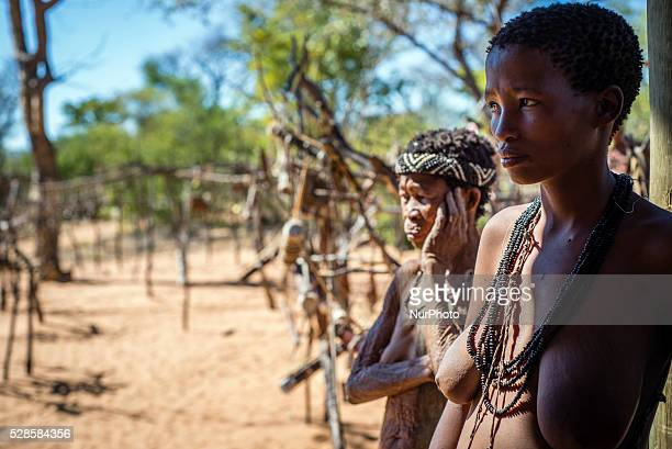 Women from the San tribe in the Living Museum of the JuHoansiSan Grashoek Namibia