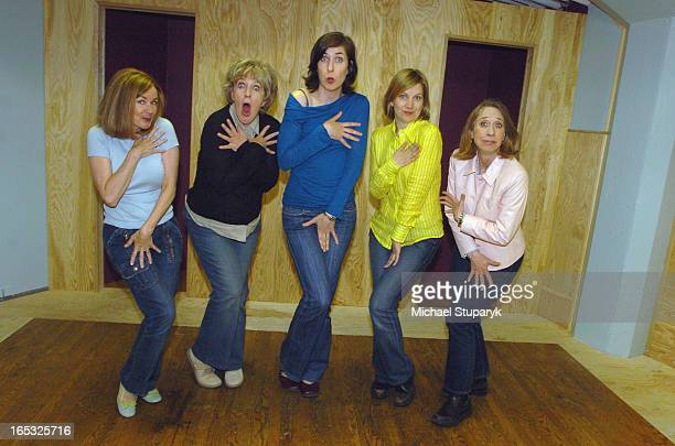 TORONTO ONT Women Fully Clothed is a five women comedy troupe who are doing a three nighter at the Winter Garden left to rt Deb McGrath Jayne...