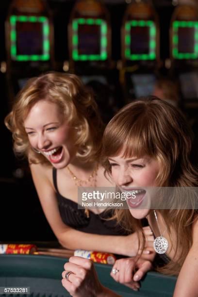 Women gambling at a casino
