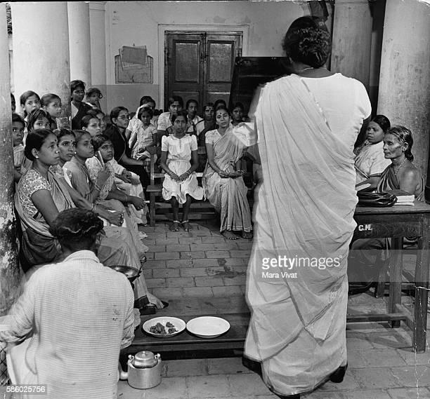 Women gather for a PTA meeting near New Delhi India | Location Near New Delhi India