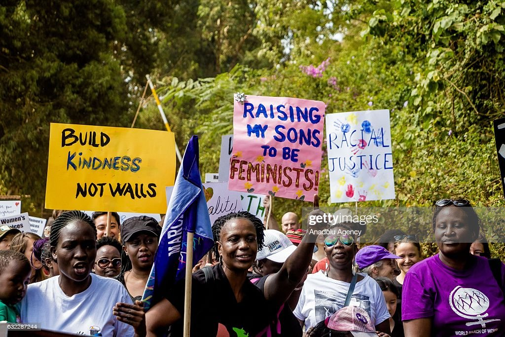"""Women gather to support """"Women March"""" in Kenya : News Photo"""