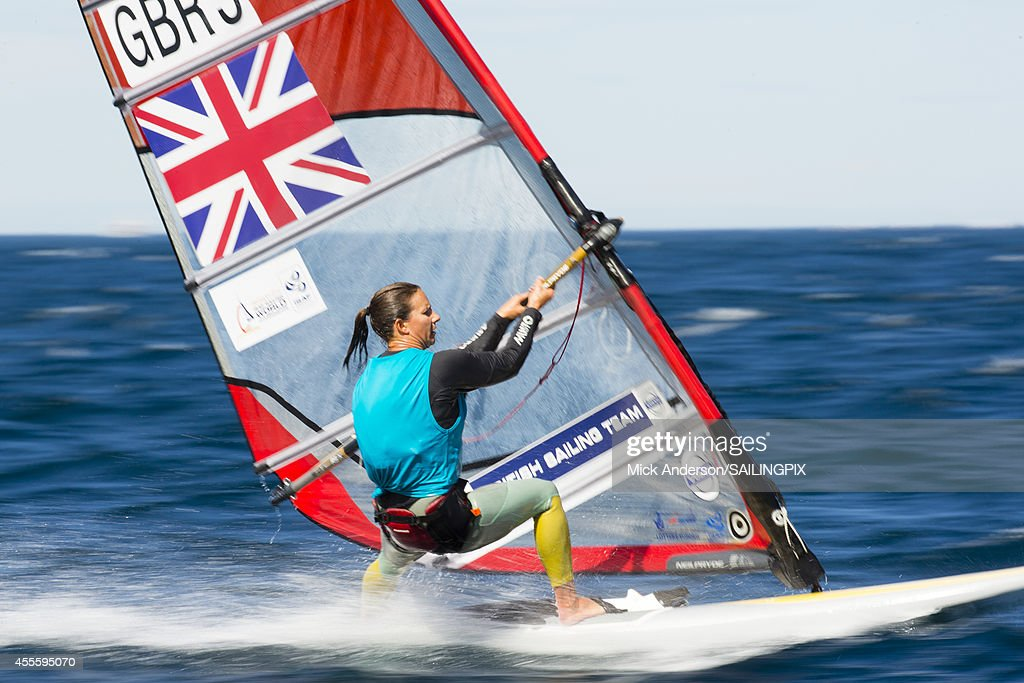 Women - GBR9 - Bryony SHAW in action during Day 6 of the 2014 ISAF Sailing World Championships on September 17, 2014 in Santander, Spain.