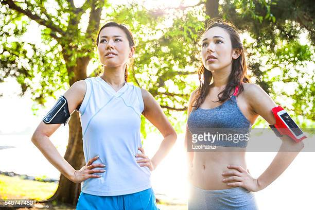 Women getting fit in the city - Tokyo