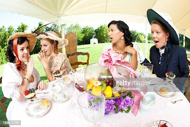 Women Gossiping at Victorian Tea Party