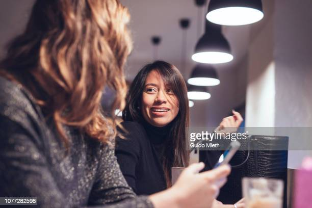 Women having a coffee break.